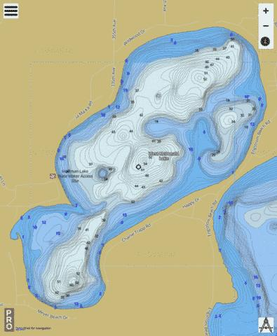 West McDonald Fishing Map - i-Boating App