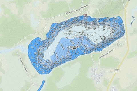 Upper Comstock Fishing Map - i-Boating App
