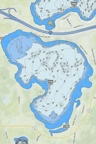 Big Spunk Fishing Map - i-Boating App