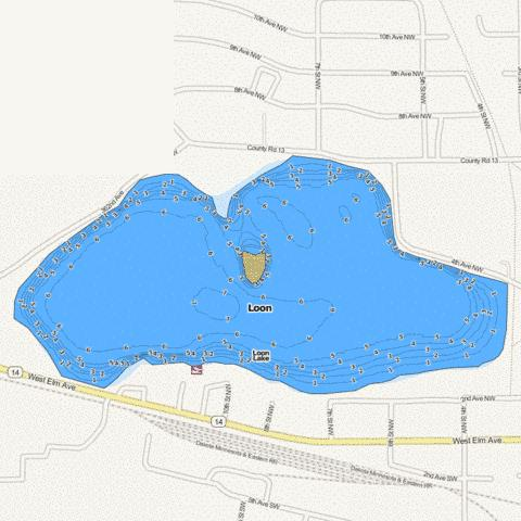 Loon Fishing Map - i-Boating App