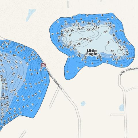 Little Eagle Fishing Map - i-Boating App