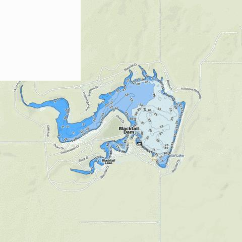 Blacktail Dam Fishing Map - i-Boating App