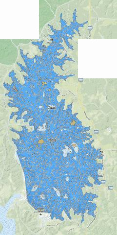 Monticello Reservoir Fishing Map - i-Boating App