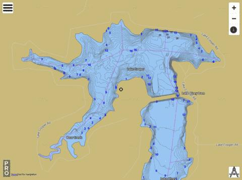 Lake Cooper Fishing Map - i-Boating App