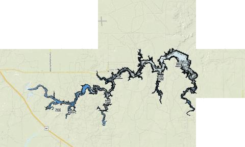 Lake Alan Henry Fishing Map - i-Boating App