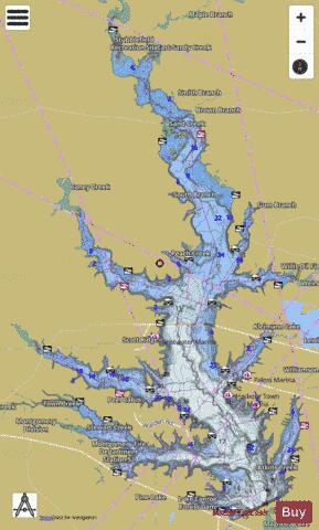 Conroe Fishing Map - i-Boating App
