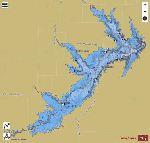 Lake Stamford Fishing Map I Boating App