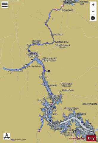 Lake Lyndon B Johnson Fishing Map - i-Boating App