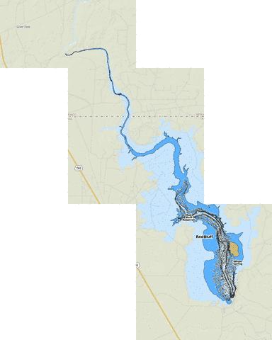 Red Bluff Reservoir Fishing Map - i-Boating App