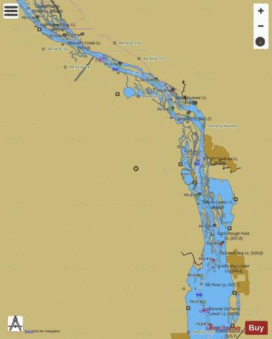 Upper Mississippi River mile 526 to mile 553 Marine Chart - Nautical Charts App