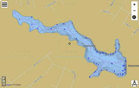 Kornbow Lake Fishing Map - i-Boating App
