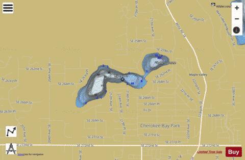 Lake lucerne pipe lake fishing map us wa 01506368 for Lake sammamish fishing