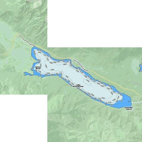 Lake Wenatchee Fishing Map - i-Boating App