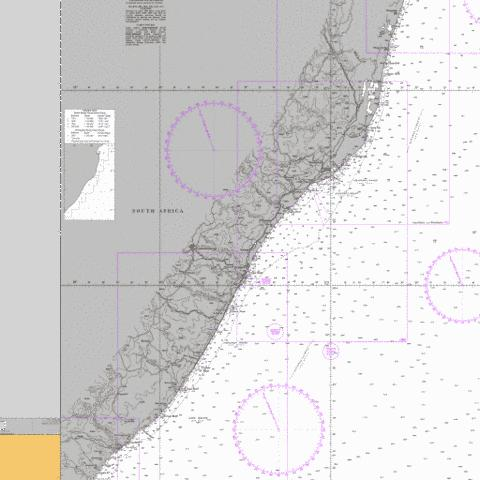Durban to Cape Vidal Marine Chart - Nautical Charts App