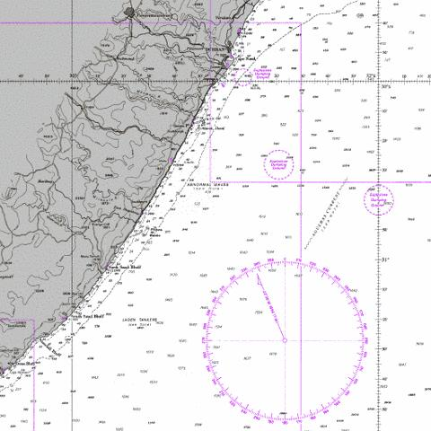 Port Shepstone to Cooper Light Marine Chart - Nautical Charts App