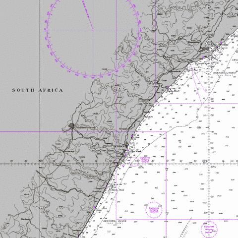 Green Point to Tongaat Bluff Marine Chart - Nautical Charts App