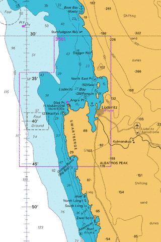 Approaches to Luderitz Marine Chart - Nautical Charts App