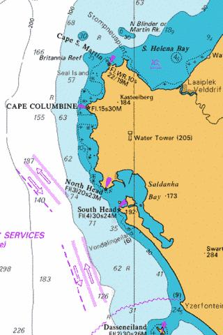 Approaches to Saldanha Bay Marine Chart - Nautical Charts App