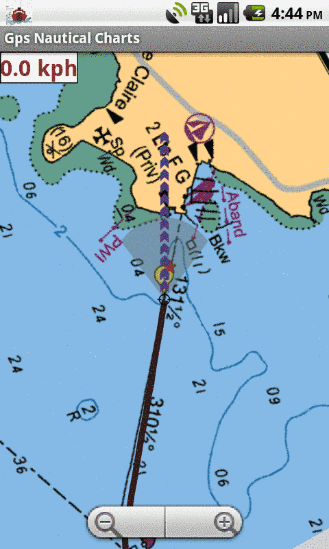 Android Marine Navigation - Auto Follow With Real Time Track Overlay