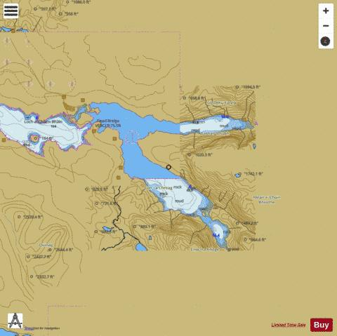 Lochs Glendhu and Glencoul Marine Chart - Nautical Charts App