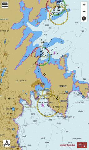 Lerwick Harbour and Approaches Marine Chart - Nautical Charts App