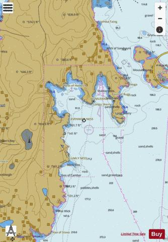 D  Sand Wick and Hos Wick Marine Chart - Nautical Charts App