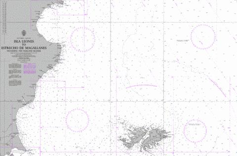 Isla Leones to Estrecho de Magallanes including the Falkland Islands Marine Chart - Nautical Charts App