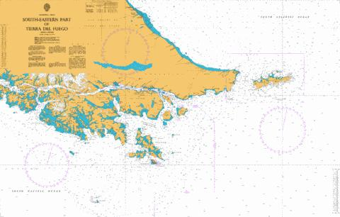 South-Eastern Part of Tierra del Fuego Marine Chart - Nautical Charts App