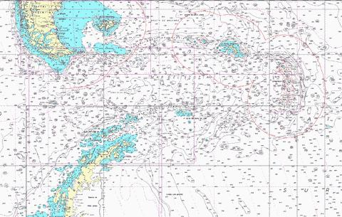 Falkland Islands to South Sandwich Islands and Graham Land Marine Chart - Nautical Charts App
