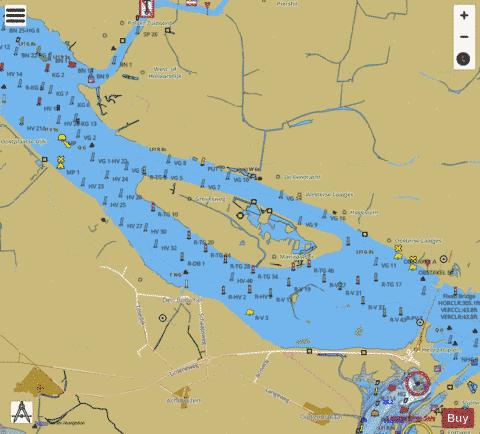 Inland Waterways : 1R5HV001 Marine Chart - Nautical Charts App