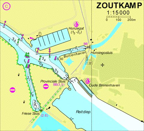 18124C - Zoutkamp Marine Chart - Nautical Charts App