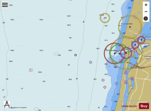 A  Approaches to Aveiro Marine Chart - Nautical Charts App