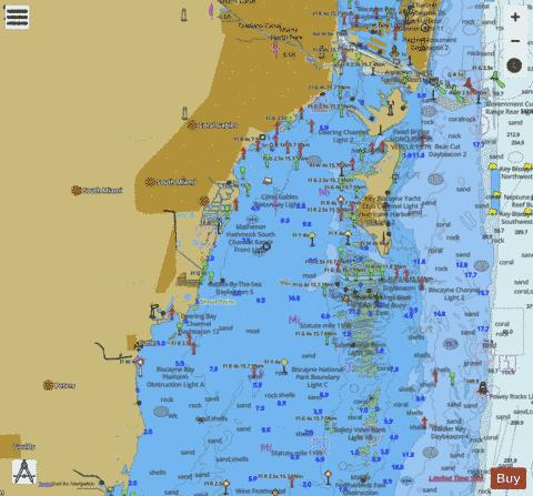 MIAMI TO MARATHON AND FLORIDA BAY PAGE A LEFT PANEL Marine Chart - Nautical Charts App