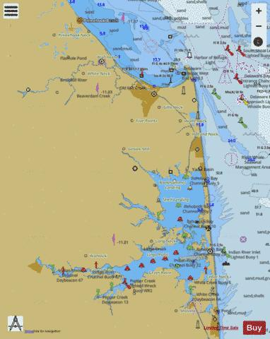 CAPE HENLOPEN TO INDIAN RIVER INLET Marine Chart - Nautical Charts App