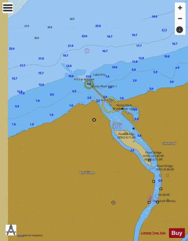 ROCKY RIVER OHIO INSET Marine Chart - Nautical Charts App