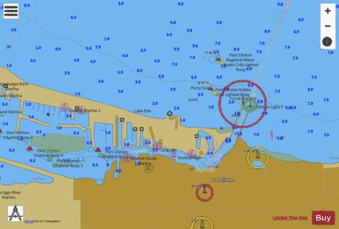 PORT CLINTON OHIO INSET Marine Chart - Nautical Charts App