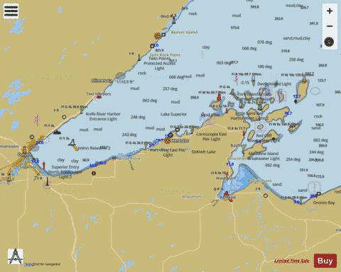 LAKE SUPERIOR - LITTLE GIRLS POINT TO SILVER BAY Marine Chart - Nautical Charts App