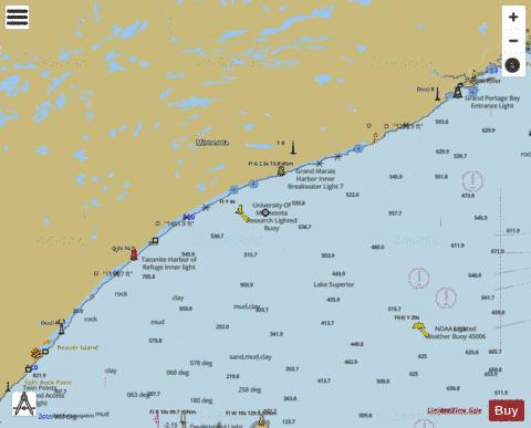 LAKE SUPERIOR BEAVER BAY TO PIGEON POINT MINN Marine Chart - Nautical Charts App