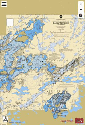 BASSWOOD LAKE EASTERN PART Marine Chart - Nautical Charts App