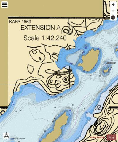BASSWOOD LAKE EASTERN PART EXTENSION  A Marine Chart - Nautical Charts App