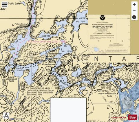 BASSWOOD RIVER Marine Chart - Nautical Charts App