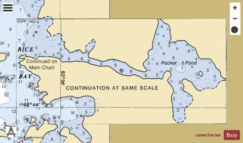 RAINY LAKE INTER FALLS TO DRYWEED I. MINN CONT Marine Chart - Nautical Charts App