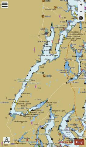 POSSESSION SOUND TO OLYMPIA PAGE E Marine Chart - Nautical Charts App