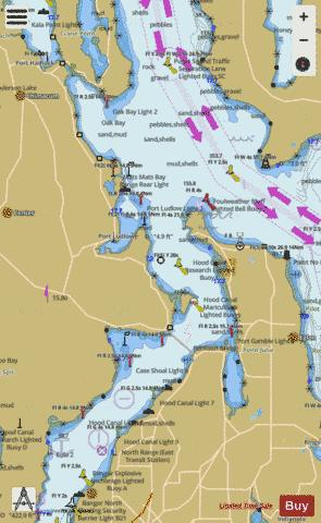 PUGET SOUND ENTRANCE TO HOOD CANAL Marine Chart - Nautical Charts App