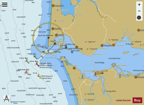 COLUMBIA RIVER PACIFIC OCEAN TO HARRINGTON POINT Marine Chart - Nautical Charts App