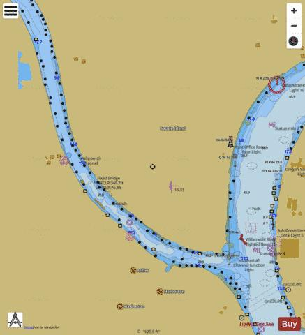 MULTNOMAH CHANNEL SOUTHERN PART Marine Chart - Nautical Charts App