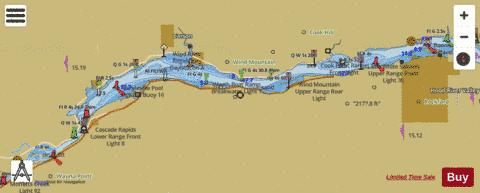 COLUMBIA RIVER BONNEVILLE TO THE DALLES Marine Chart - Nautical Charts App