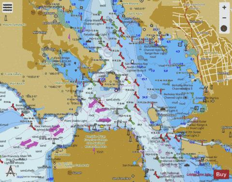 SAN FRANCISCO BAY TO ANTIOCH Marine Chart - Nautical Charts App