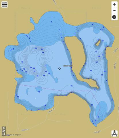 Island Lake Fishing Map - i-Boating App