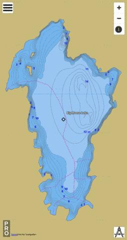 Lake Big Fishing Map - i-Boating App
